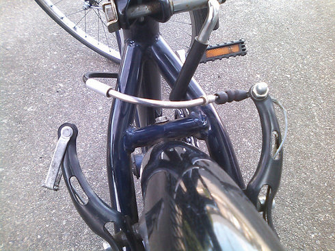 自転車の ブレーキシュー グリス 自転車 : 動きが渋いVブレーキをグリス ...
